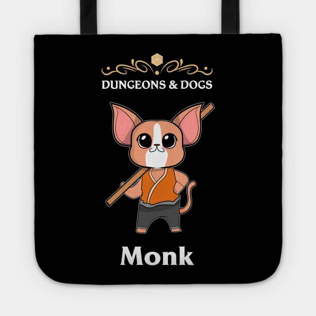 D/&D Tabletop Gaming Monk Class D20 Tote bag