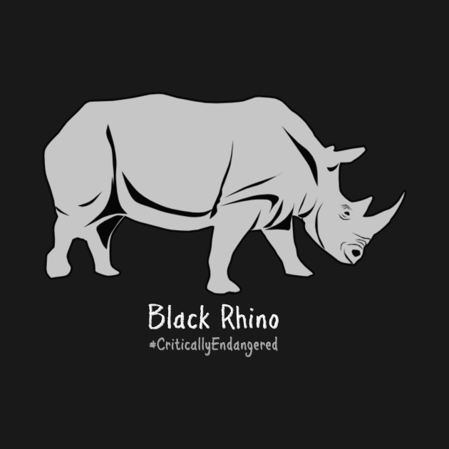 943cb2d72ce2 ... Black Rhino - Critically Endangered Animal Awareness Shirts and More