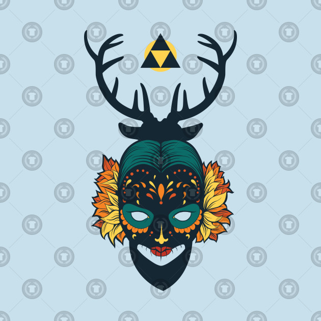 Pagan Mask with Antlers Design