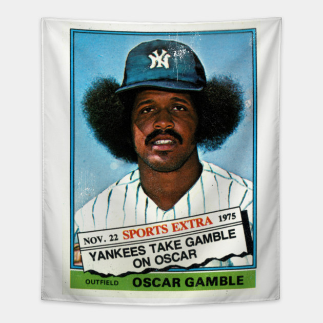 Oscar Gamble 1976 Topps Traded 74t Afro Card Distressed By Pissandvinegar
