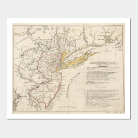 Old map of new jersey posters and art prints teepublic gumiabroncs Images