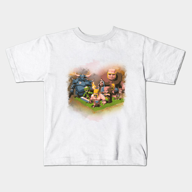 c387fb058 Clash On! WITH COC Characters WATERCOLOR - Clash Of Clans - Kids T ...