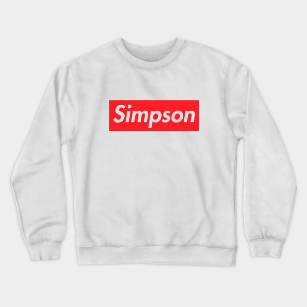 3b87c21bb7b5 SIMPSON SUPREME - Supreme - Crewneck Sweatshirt   TeePublic