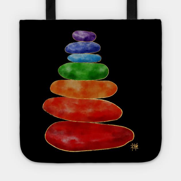 Zen Pebbles Chakras - Watercolor & Gold