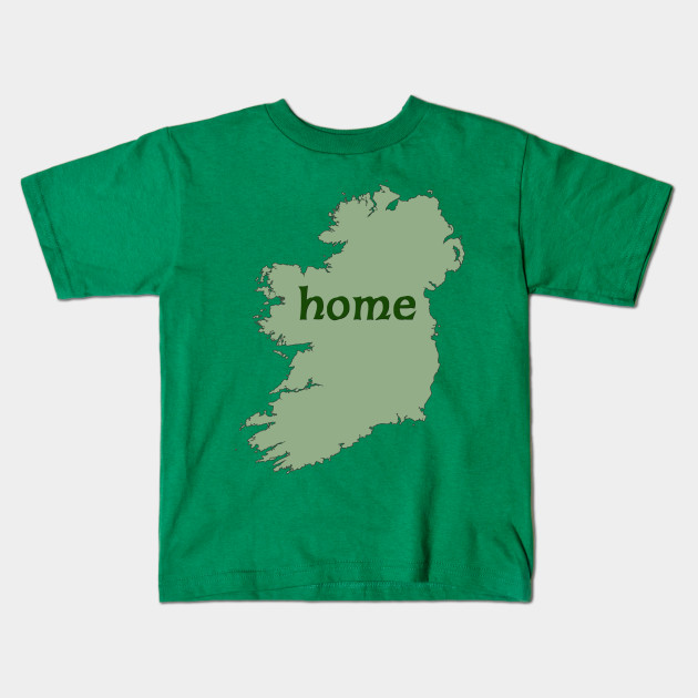 Kids Map Of Ireland.Irish Map With Word Home Ireland Kids T Shirt Teepublic