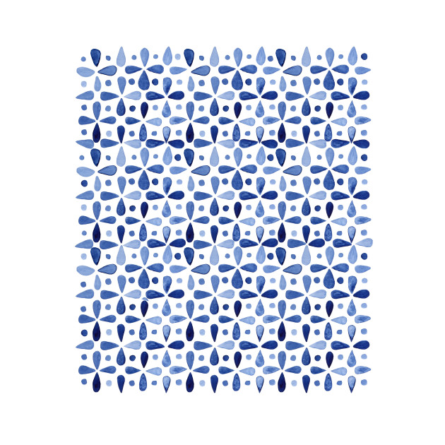 Imperfect Geometry Indigo Grid