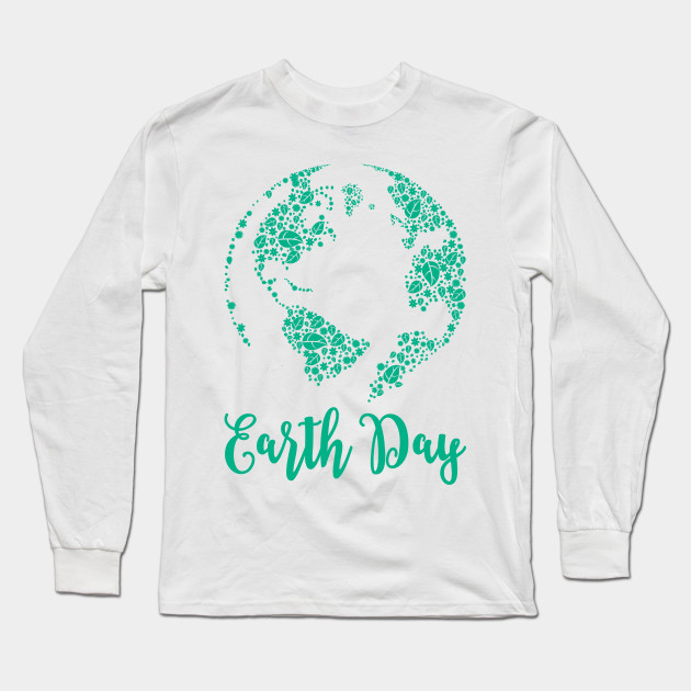 Earth Day World Leaves - Earth Day graphic Gift Long Sleeve T-Shirt