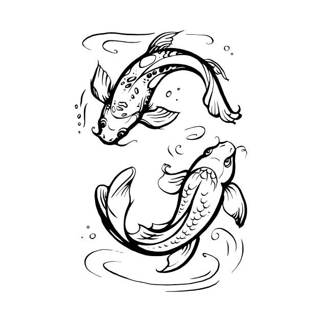 Koi Fishes Pisces Zodiac Sign Pisces Zodiac T Shirt Teepublic