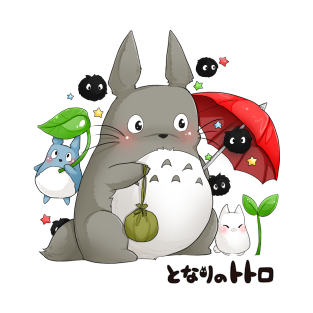 Totoro and friends t-shirts