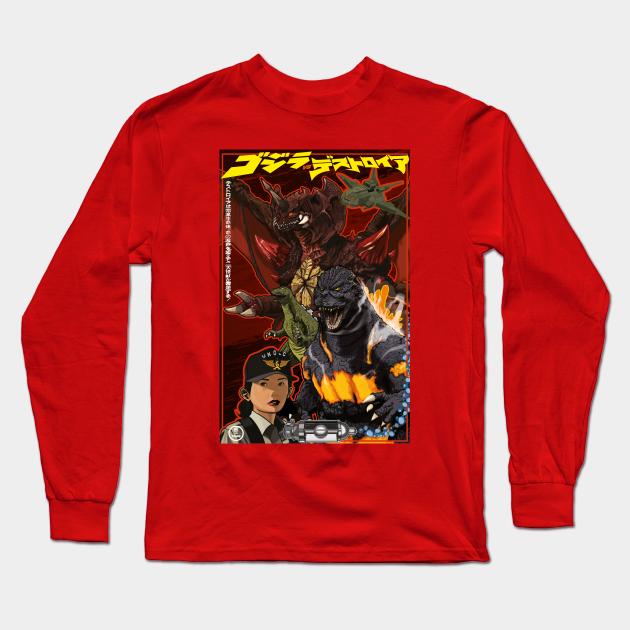 Godzilla Long Sleeve Shirt