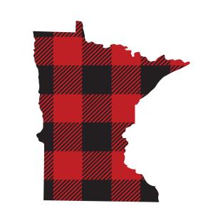 71567649 Minnesota Flannel Plaid MN State Design T-Shirt