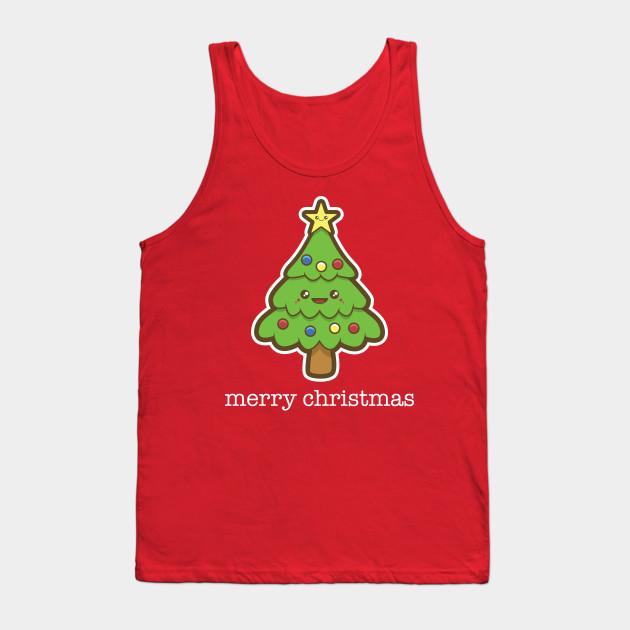 Kawaii Christmas Tree - Childrens - Tank Top | TeePublic