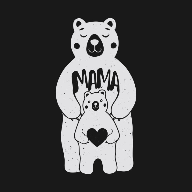 12062807117 Womens Womens Mama Bear Shirt Graphic Tee - Mothers Day - Long ...