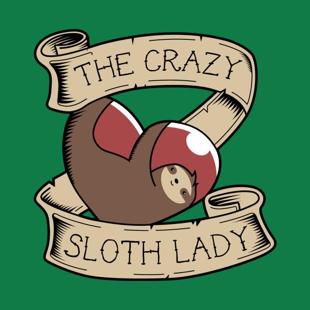 Crazy Sloth Lady Tattoo