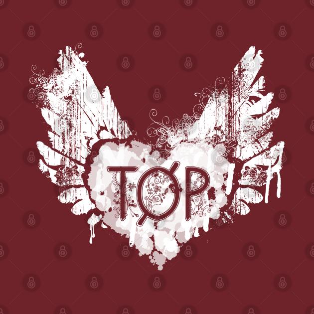 Twenty One Pilots - TOP - Heart + Wings - White