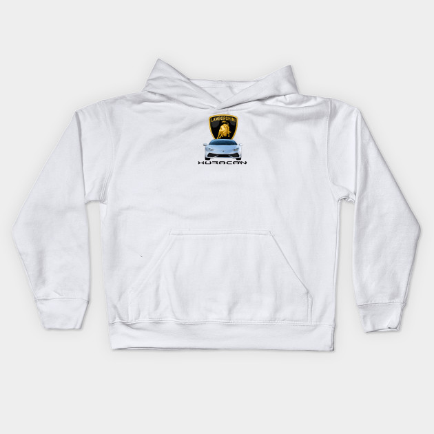 Lamborghini Kids Zip-up Hoodie White Racing-other Other Unisex Clothing