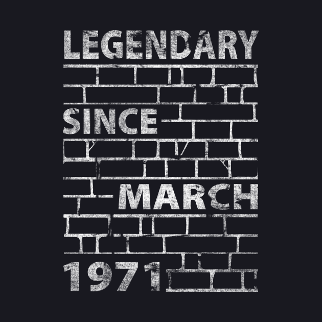 Mason Bricklayer 50 Birthday Gift March 1971