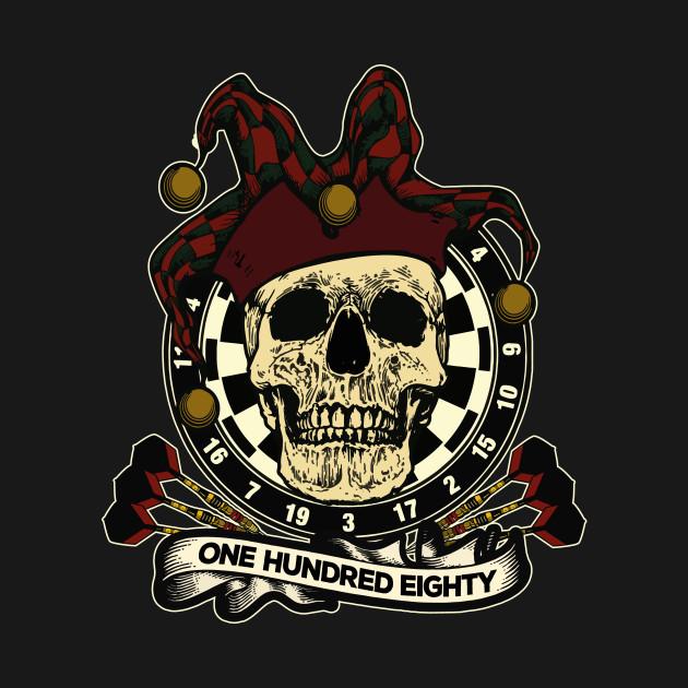 Darts skull dartboard team player Crew throw gift