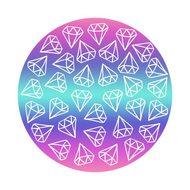 Pastel Gradient Doodle Diamonds
