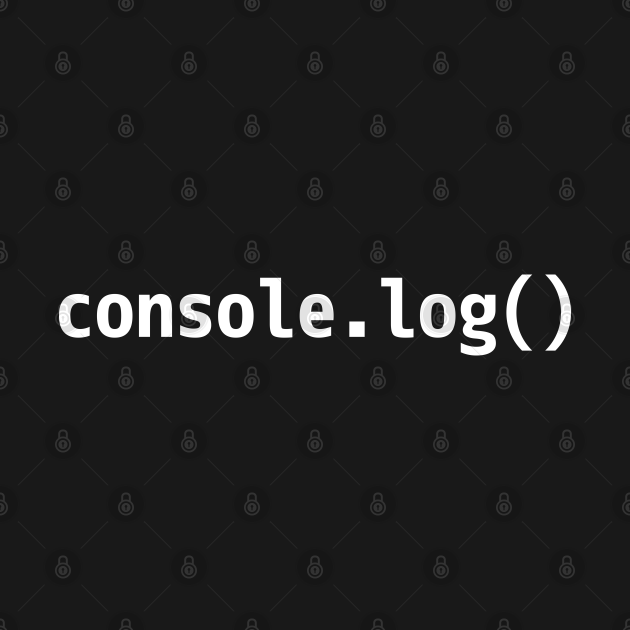 console.log() - JavaScript/Web Developer White Text Design