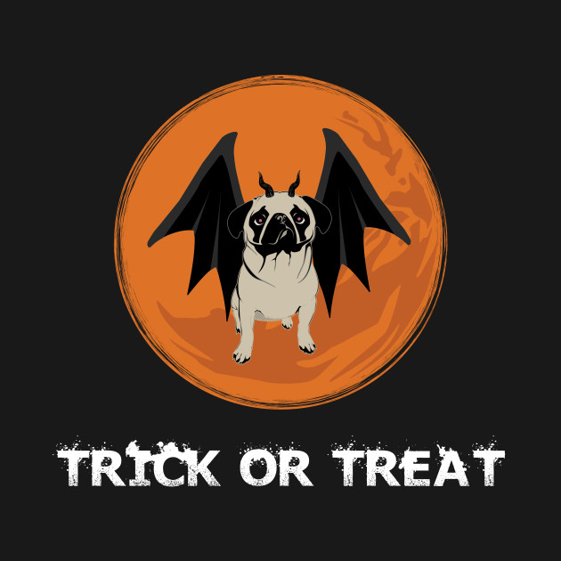 Trick or Treat Halloween Funny Pug Design for Dog Lovers