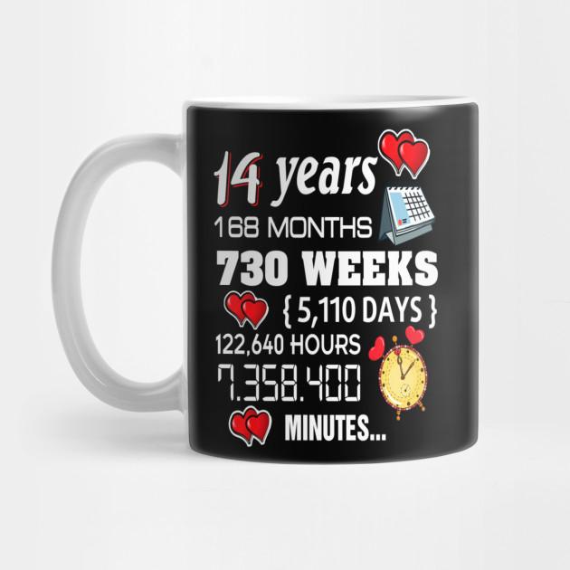 14th Wedding Anniversary Gift Ideas: 14th Wedding Anniversary Shirt 14 Years Anniversary Gift