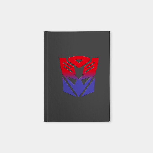 Autobot Decepticon Symbol Fusion Transformers Notebook Teepublic