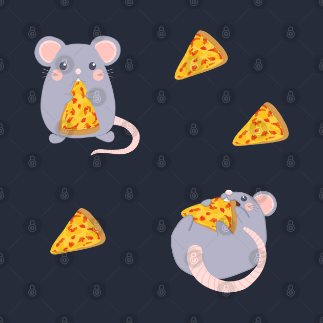Adorable Hungry Rats And Pizza