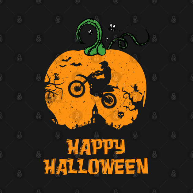 Halloween Motocross Dirt Bike Pumpkin