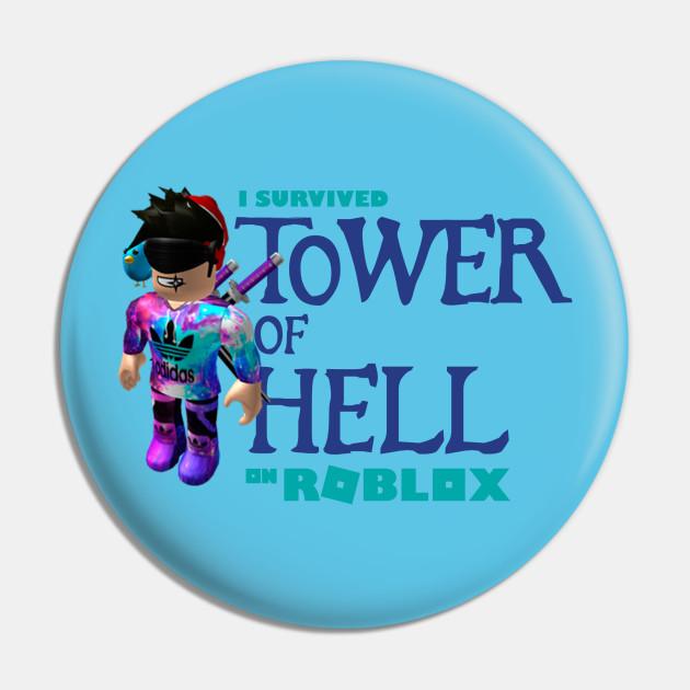Tower Of Hell Roblox Pin Teepublic