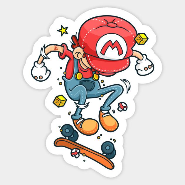 Skate Mario - Skateboarding - Sticker  9f8d6d0334a