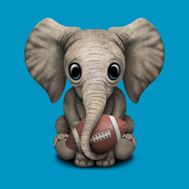 Baby Elephant Playing With Football