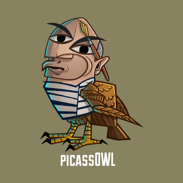 Picass owl owl t shirt teepublic