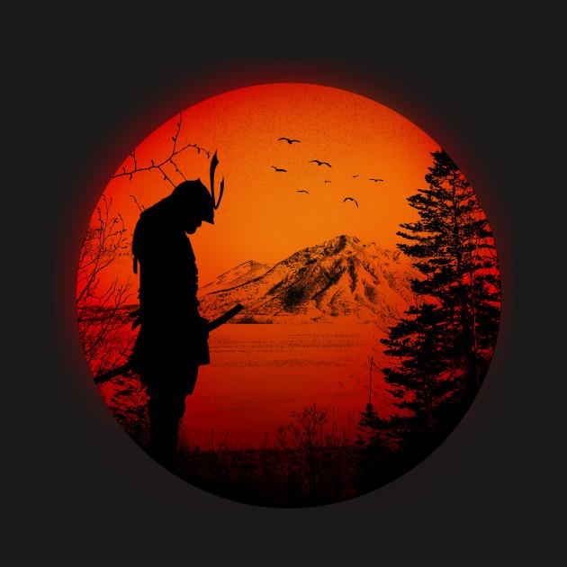 My Love Japan / Samurai warrior / Ninja / Katana - Japan Flag - T ...