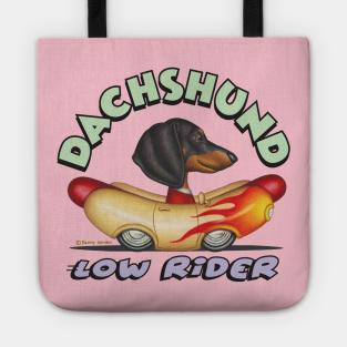 Dachshund Doggone Cute Sheriff Deputy Cowboy Dog Graphic Print Tote Bag Back to School Kids Boys Tin Star Green Children Red Orange Blue