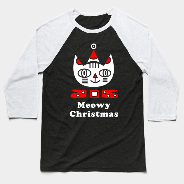 2b7151978 Meowy Christmas T-Shirt Christmas Holiday Funny Cat Lover Kitten Gift Tee  Tshirt Baseball T-Shirt