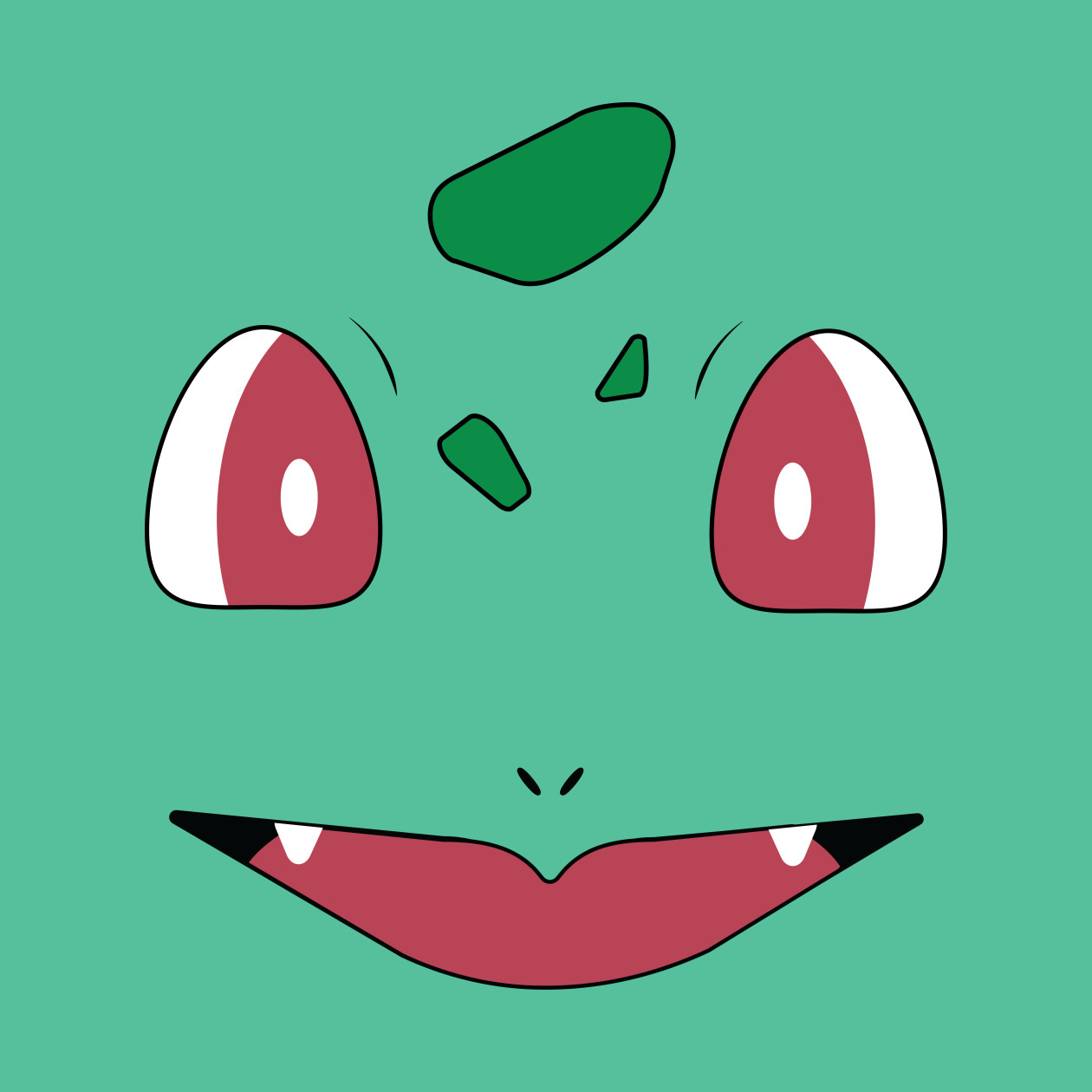 Bulbasaur Face - Bulbasaur - Phone Case : TeePublic