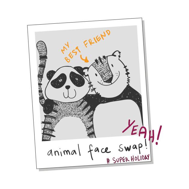 Cute Panda And Tiger