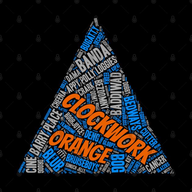 Clockwork Slang Orange Word Art