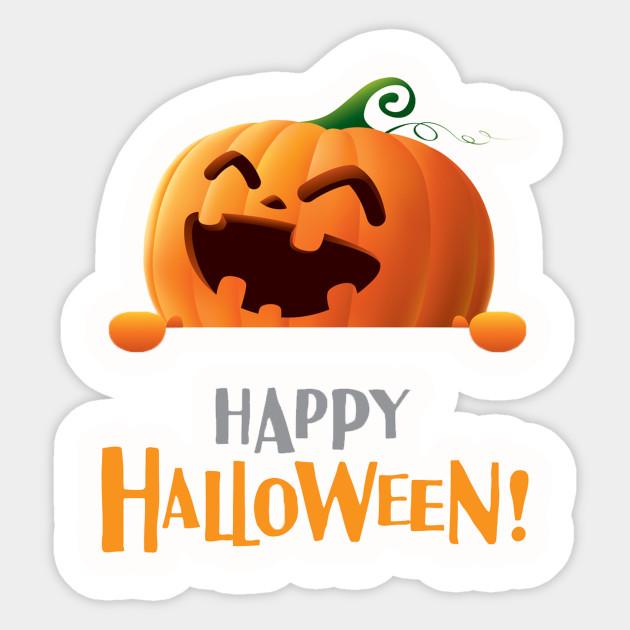 Pumpkin Happy Halloween Animated Cartoon Pumkins Halloween Sticker Teepublic