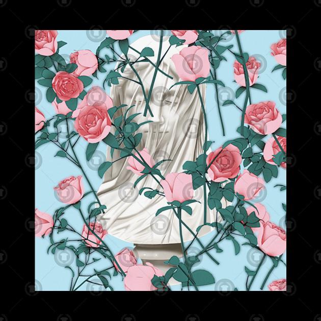 Rose Statue ∆∆∆ Aesthetic Collage Design