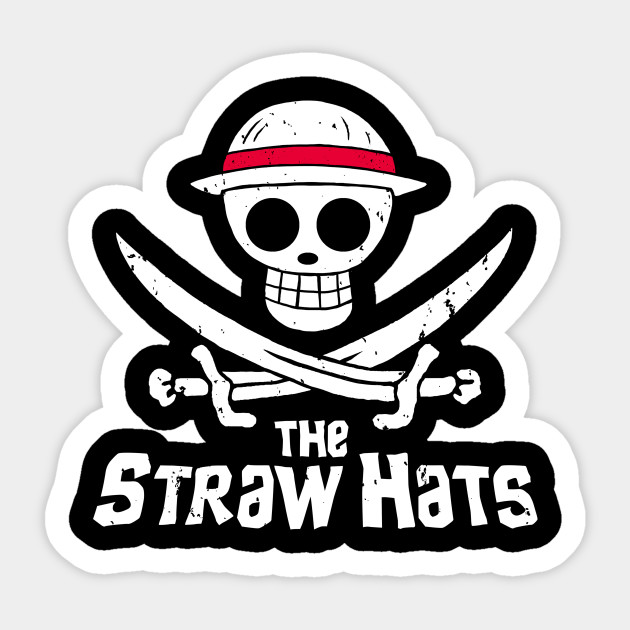 Straw Hat Pirates Hat Sticker Teepublic