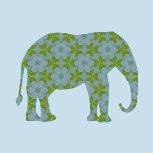 Floral Wild Elephant t-shirts