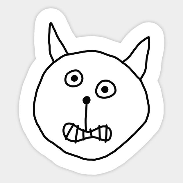 Alric Funny Cartoon Cat Face Cat Sticker Teepublic