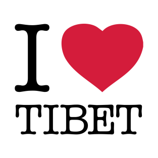 I LOVE TIBET t-shirts