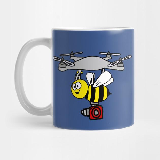 Funny Yellow Jacket Bee Drone Cartoon Drone Mug Teepublic
