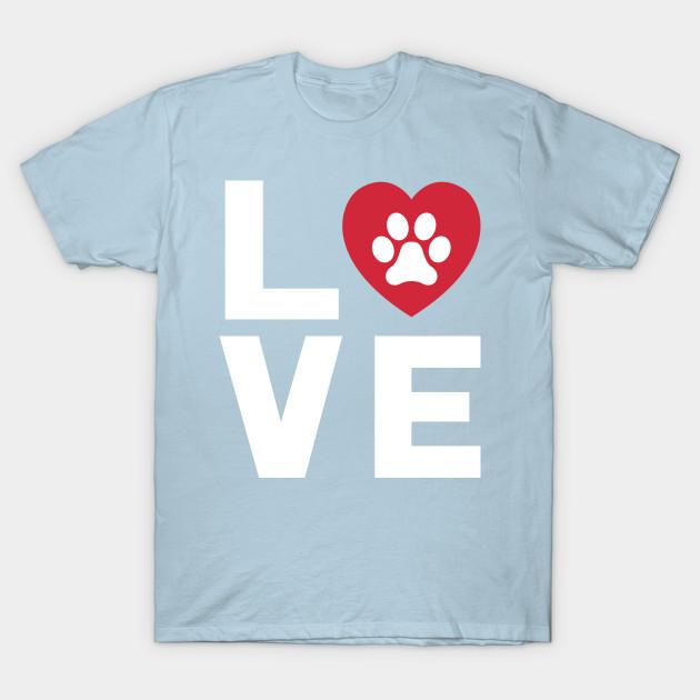 Animal Lover Dog Paw Print Love Dogs My Best Friend Shirt