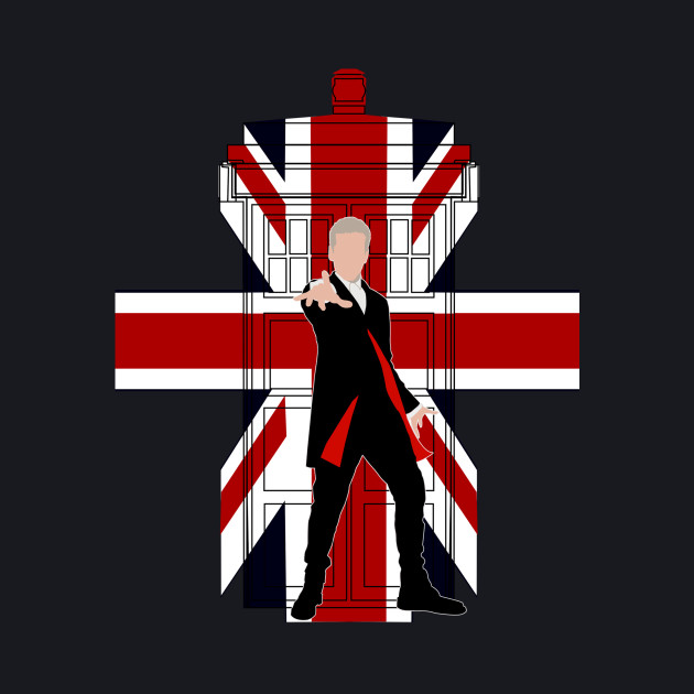 12th Doctor with Union jack Phone booth