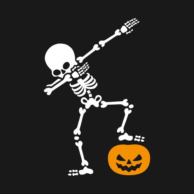 Halloween Skeleton.Dabbing Skeleton Dab Pumpkin Head Halloween
