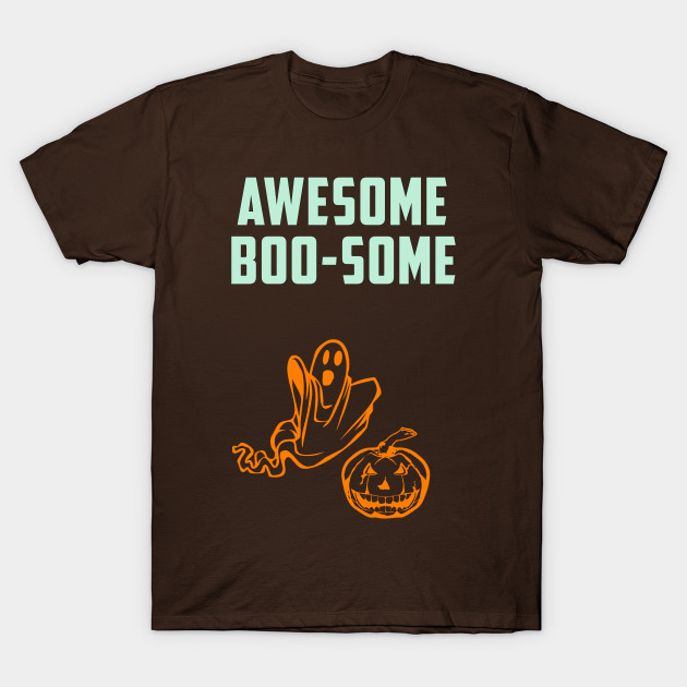 Awesome Boo Some Twosome Halloween T-Shirt-TOZ